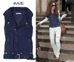 In Cheryl Cole's Closet - Maje Goteborg Suede Vest
