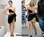 "On The ""Gossip Girl"" Set With Hilary Duff Wearing Marchesa"