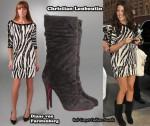 In Khloe Kardashian's Closet - Diane von Furstenberg Zebra Dress & Christian Louboutin Boots