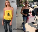 In Brittany Snow's Closet - Karina Grimaldi Maria Strapless Top