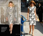 Anna Wintour On The Late Show With David Letterman Wearing Carolina Herrera