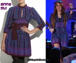 In Miley Cyrus' Closet - Anna Sui Floral Print Dress