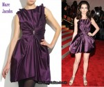In Anne Hathaway's Closet - Marc Jacobs Duchesse Satin Zip-Embellished Dress