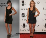 In Audrina Patridge's Closet - Alice + Olivia Black Draped Overlay Dress