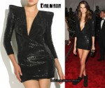 In Daria Werbowy's Closet - Balmain Paillette Mini Dress