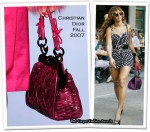 Runway To Sidewalk - Beyonce Knowles Carrying A Christian Dior Samourai 1947 Woven Frame Bag