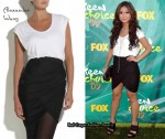 In Brenda Song's Closet - Alexander Wang Black & White Jersey Dress
