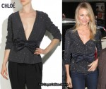In Cameron Diaz' Closet - Chloé Crystal-Embellished Silk Jacket