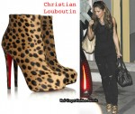 In Cheryl Cole's Closet - Christian Louboutin Leopard Print Ankle Boots