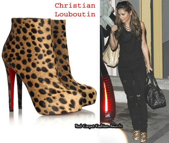 christian louboutin animal print ankle boots