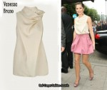 In Cheryl Cole's Closet - Vanessa Bruno Cream Sleeveless Top