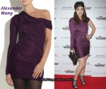 In Fabiola Beracasa's Closet - Alexander Wang One-Sleeve Jersey Dress