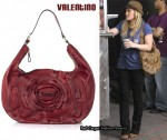 In Hilary Duff's Closet - Valentino Petal Leather Hobo Bag