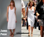 In Jennifer Aniston's Closet - James Perse White Racer Back Dress