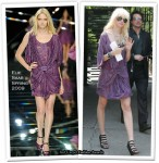 On The Gossip Girl Set With Taylor Momsen Wearing Elie Saab