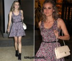 "Diane Kruger Promoting ""Inglourious Basterds"" On Alexa Chung & David Letterman Shows"