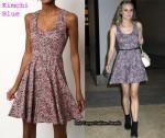 In Diane Kruger's Closet - Kimchi Blue Black Ditsy Floral Dress