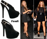 In Kim Kardashian's Closet - Fendi Suede Platform Slingbacks