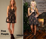 In Stephanie Pratt's Closet - Free People Rose Floral Mini Dress