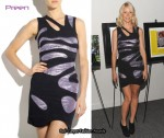 In Gwyneth Paltrow's Closet - Preen Lamé Zebra Dress