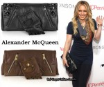 In Hilary Duff's Closet - Alexander McQueen Faithfull Leather Glove Clutch