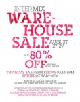 Intermix Warehouse Sale