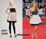 In Kelly Brook's Closet - Alice + Olivia Strapless Belted Dress