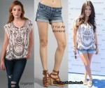 In Kourtney Kardashian's Closet - Gryphon Top & 7 For All Mankind Shorts