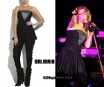 In Kylie Minogue's Closet - Balmain Strapless Jersey Jumpsuit