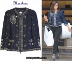 In Lauren Conrad's Closet - Moschino Embellished Wool-Blend Cropped Jacket