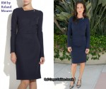 In Jennifer Connelly's Closet - RM by Roland Mouret Mistral Wool-Blend Dress