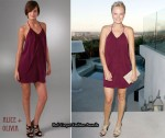 In Malin Akerman's Closet - Alice + Olivia Draped Panel Dress
