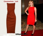 In Mary McCormack's Closet - Giambattista Valli Red Knot Dress