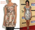 In Mila Kunis' Closet - Matthew Williamson Printed Brocade Dress