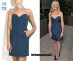 In Kirsten Dunst's Closet - Miu Miu Strapless Bustier Mini Dress