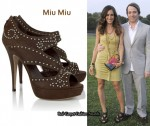 In Sarah Jessica Parker's Closet - Miu Miu Leather Studded Sandals