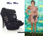 In Nikki Reed's Closet - Miu Miu Suede Cut-Out Sandals