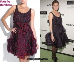 In Olivia Palmero's Closet - Notte by Marchesa Organza Ruffle Hem Dress