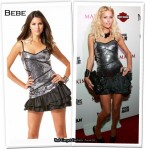"""""""Oh No She Didn't"""" - Paris Hilton Wears That Other Bebe Dress"""