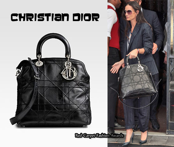 in demi moore 39 s closet christian dior granville tote. Black Bedroom Furniture Sets. Home Design Ideas