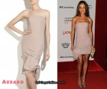 In Maggie Q's Closet - Azzaro Strapless Dress