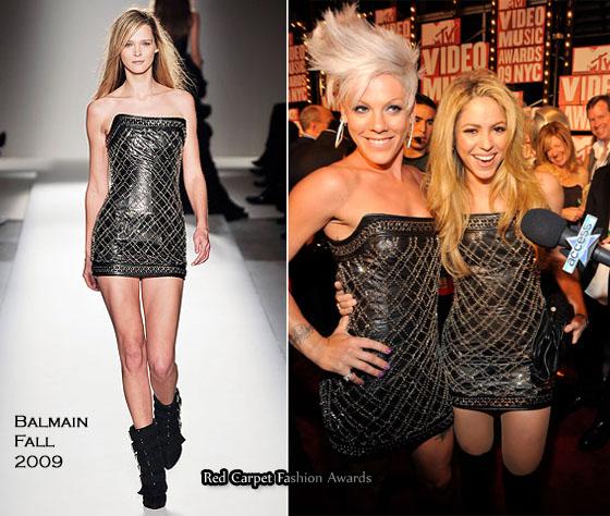 dd33bac8 Who Wore Balmain Better? Shakira or Pink - Red Carpet Fashion Awards