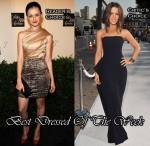 Best Dressed Of The Week - Alexis Bledel In Christian Siriano & Kate Beckinsale In Jil Sander