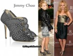 In Becki Newton's Closet - Jimmy Choo Karina Studded Shoe-Boots