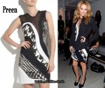 In Becki Newton's Closet - Preen Mixed Mono Dress
