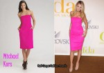 In Blake Lively's Closet - Michael Kors Pink Strapless Sheath Dress