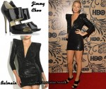 In Blake Lively's Closet - Balmain Dress & Jimmy Choo Private Sandals