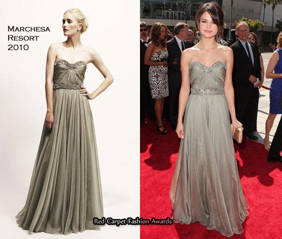 selena gomez red carpet 2010. Selena Gomez looked elegant on