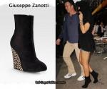In Rihanna's Closet - Giuseppe Zanotti Leopard Print Ankle Boots