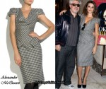In Penelope Cruz' Closet - Alexander McQueen Houndstooth Check Pencil Dress